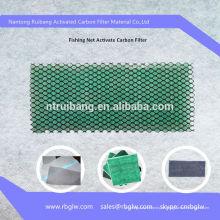 Filtro de carbono ativado malha de pesca diamante
