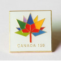 Custom Canada Broscher Pin med Flower