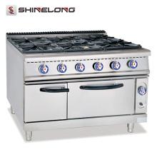 Piezas eficientes comerciales de la hornilla para las estufas de gas con la gama del gas del acero inoxidable de 6 hornillas