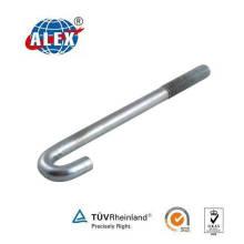 High Tensile Special Fastener HDG Customized J Bolt