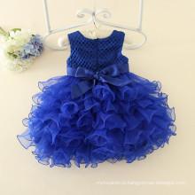 Детская одежда цветок девочек темно-синий Рождество свадьбу девочки темно платья новый дизайн моды высокое качество
