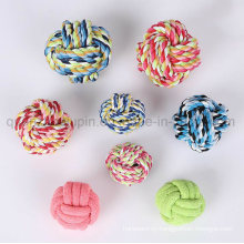 Custom Cotton Pet Dog Chew Bite Rope Knot Ball Toy