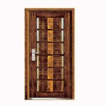 Steel skeleton wooden surface armoured door designs