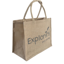 Reusable biodegradable eco friendly jute grocery shopping bags