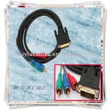 Кабель DVI - 3 RCA с компонентом
