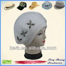 Rabbit Hair Hat/Fur hat/Fashion Wool Hat with Flower fur hats fashion wool hats , LSA44