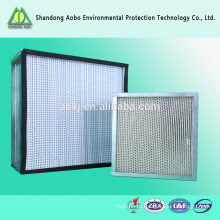 Фильтр HEPA стеклоткани для лаборатории с сетки/высокая эффективность фильтрации сетки/Коробка-Тип фильтра высокой эффективности