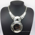 Glroy Trendy Attractive Big Glass Stone Alloy Base Necklace (XJW13785)