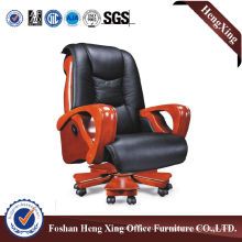 Wooden High Back Leather Executive Boss Office Chair (HX-CR032)