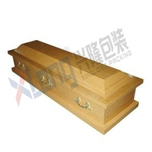 Satin Interior Oak Veneer Disassembled Full Open Casket