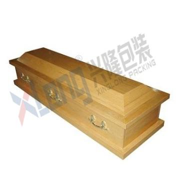 Satin plaqué chêne intérieur démonté complètement ouverte de cercueil
