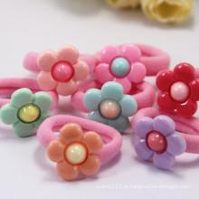 Brincos bonitos do anel da corda de toalha do girassol da resina dos miúdos (JE1570)