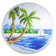 Round Towel Beach XL Serviettes de plage Palm Tree