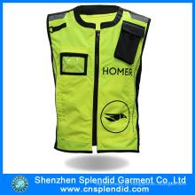 China Wholesale segurança reflexivo Running Vest com bolsos