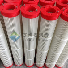 FORST Wam panel cement silo top air pleated filter cartridge                                                                         Quality Choice