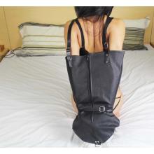 Кожаный замок с замком из поливинилхлорида Запираемый одноручный перчаточный сундук для женщин