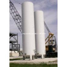 Réservoir de dioxyde de carbone liquide cryogénique vertical