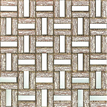 Aluminium Mix Net Patterns Mosaic Glass