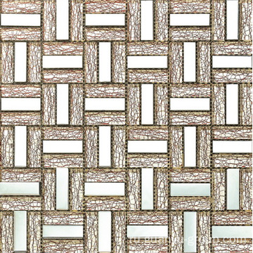 Aluminum Mix Net Patterns Glass Mosaic