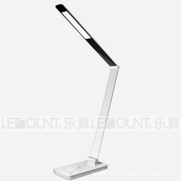 Lampe de bureau en aluminium à protection des yeux à LED avec fonction de charge sans fil (LTB107W)