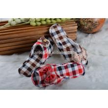 men plaid open-toed quiet indoor outdoor soft slipper