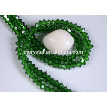 Lose facettierte Perle fliegende Untertasse Glasperlen
