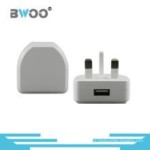 Chargeur d'alimentation simple de chargeur de voyage d'USB avec la prise BRITANNIQUE
