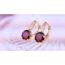 27431 Xuping Jewelry Fashion Hot Style18K Gold Plated Hoop Earring With Colorful Stone