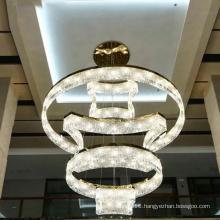 Baccarat K9 crystal stainless steel led chandelier light