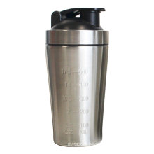 Eco-friendly High Grade 304 Stainless Steel Protein Shaker Single Wall Water Bottle with Stainless Steel Ball