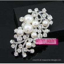Broche de pérola de cristal feito sob encomenda para convites de casamento