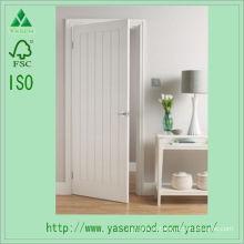 Porta de madeira nivelada branca do estilo europeu