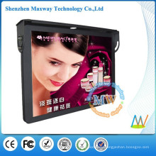 19 inch top mounting HD LCD advertising player bus
