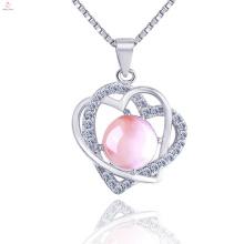 Jóia da colar do pendente do coração da prata 925 esterlina para a fêmea