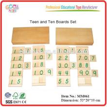 montessori material toys Teen & Ten Boards Set