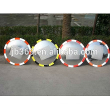 180 degree road convex mirror with luminescent edge