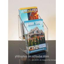 Verwenden Sie für Bank Clear Acryl Broschüre Organizer Display