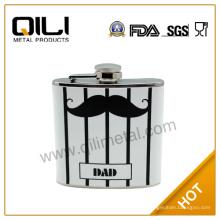 18/8 FDA 170ml calor transferencia único frasco con el logo de bigote