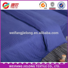Buen precio Hotel Beddings, 100% algodón 40s 250tc satin stripe Venta caliente. Bright Stripe Satin lecho establece rayas blancas tela