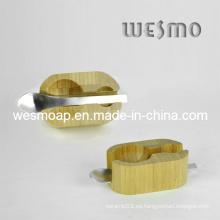Titular de la cuchara de herramientas de bambú de bambú carbonizado