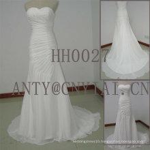 HH0027 Beach Pleated Chiffon Wedding Dress