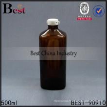 vide ambre 500 ml bouteille carrée en verre bouchon snap bouteilles usage médical échantillons gratuits