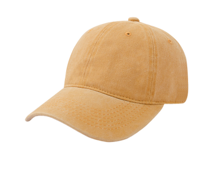 Coating Washing Plain Cap Yellow