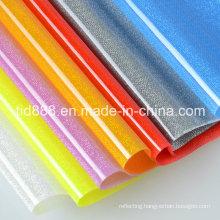 Sparkling Transparent PVC Rigid Sheet for Fashion Clothes Decoration