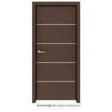 Shaker Style Solid Wood Melamine Door with Metal Strips