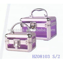 acrylic makeup organizer clear box cosmetic cases 2-in-1