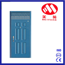 Modern Transom Design Safety Main Steel Door with Hinges
