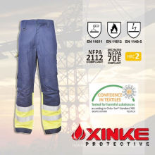 Reflective fireproof pants with reflective tapes