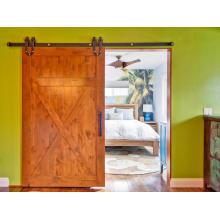 X-Brace Style Knotty Alder Sliding Barn Door