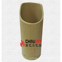 Contenedor de tubo de bambú puramente natural